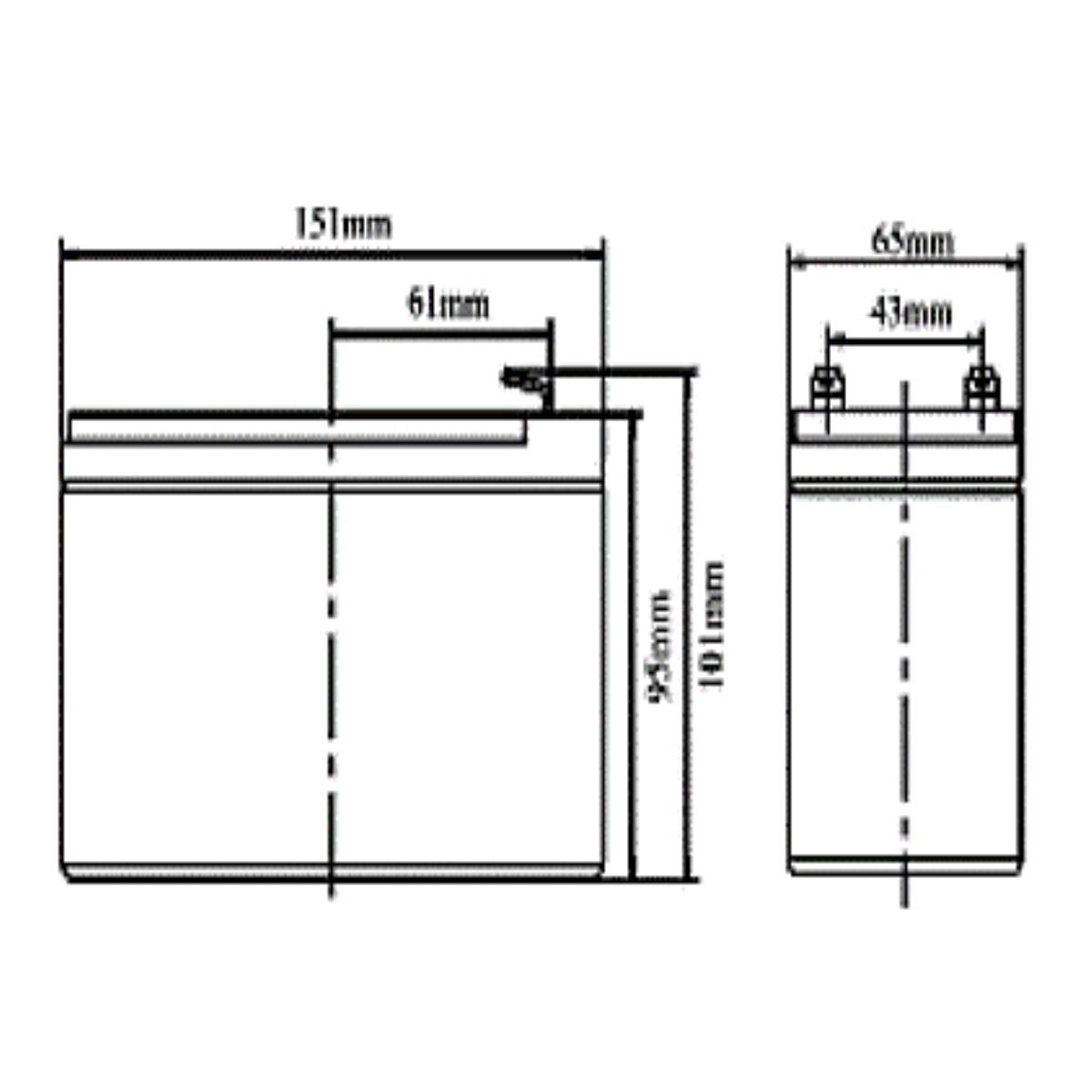 Batería 12V 18AH Koyosonic AGM-NP18-12