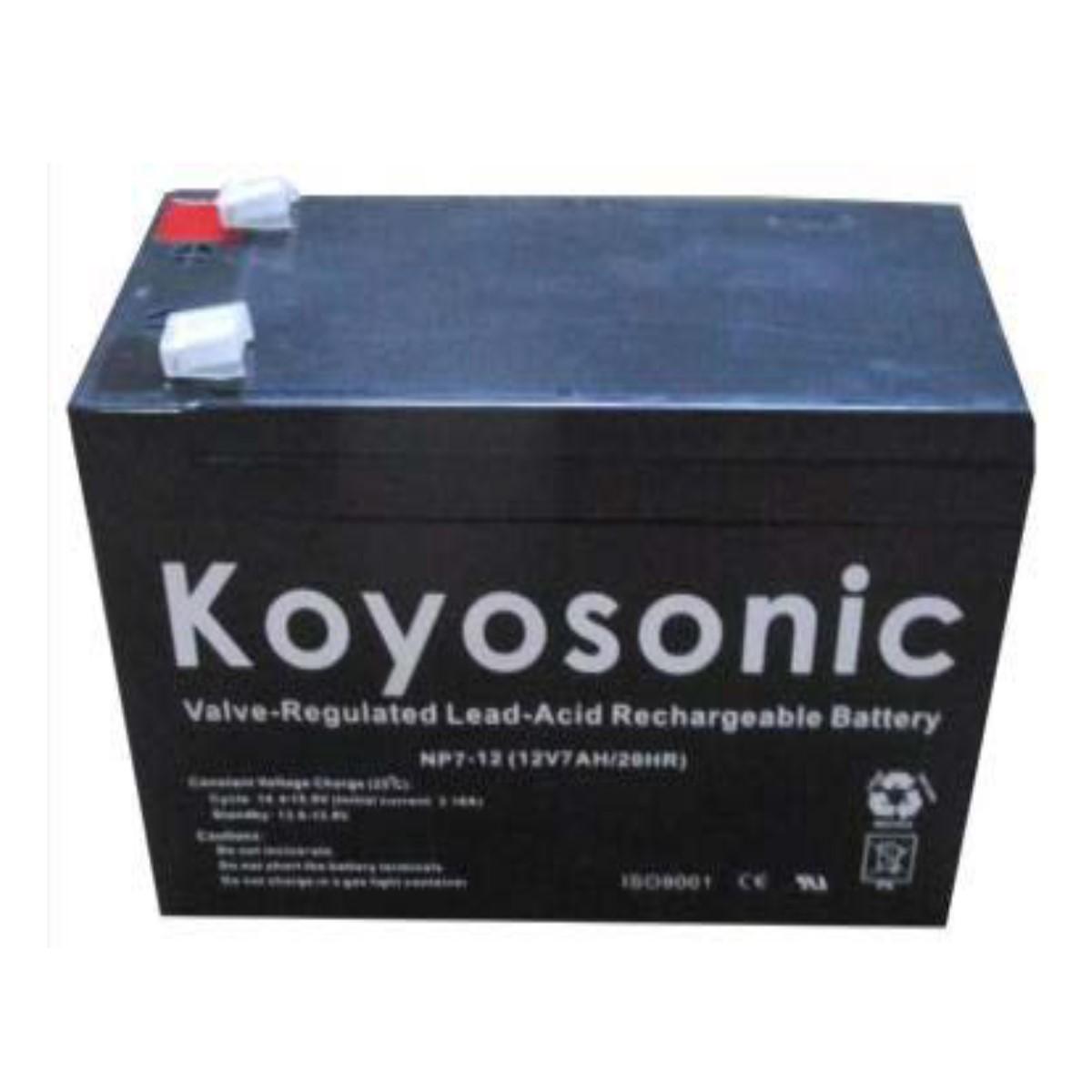 Batería 12V 7AH Koyosonic AGM-NP7-12