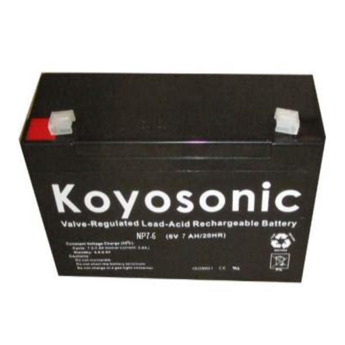 Batería 6V 7AH Koyosonic AGM-NP7-6