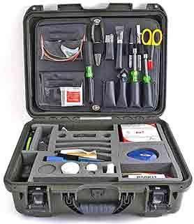Kit básico de herramientas de fibra óptica FIS con herramientas Greenlee y PFL NGSTF10053PG
