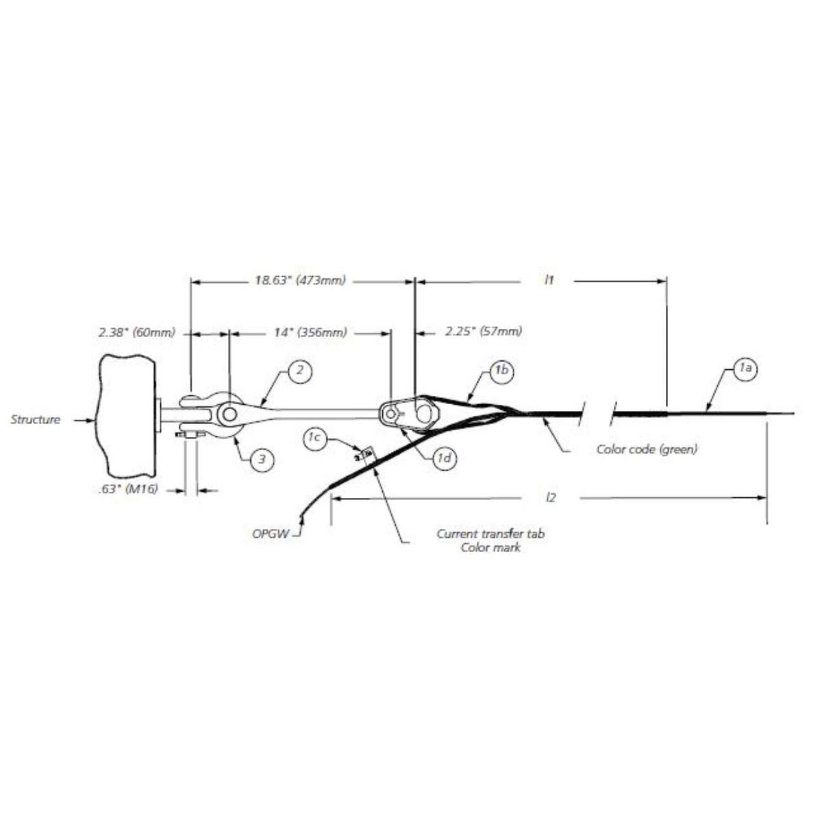 Callejón sin salida de alambre formado para cable OPGW OWD926/1030C AFL