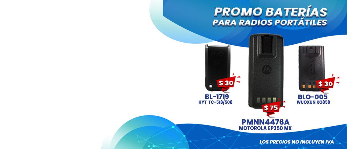 Oferta Promocion en Baterias para Radios MOTOROLA - HYTERA - WOUXUN