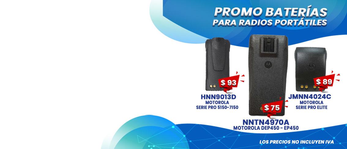 Oferta Promocion en Baterias para Radios Motorola HNN9013D - NNTN4970A - JMNN4024C