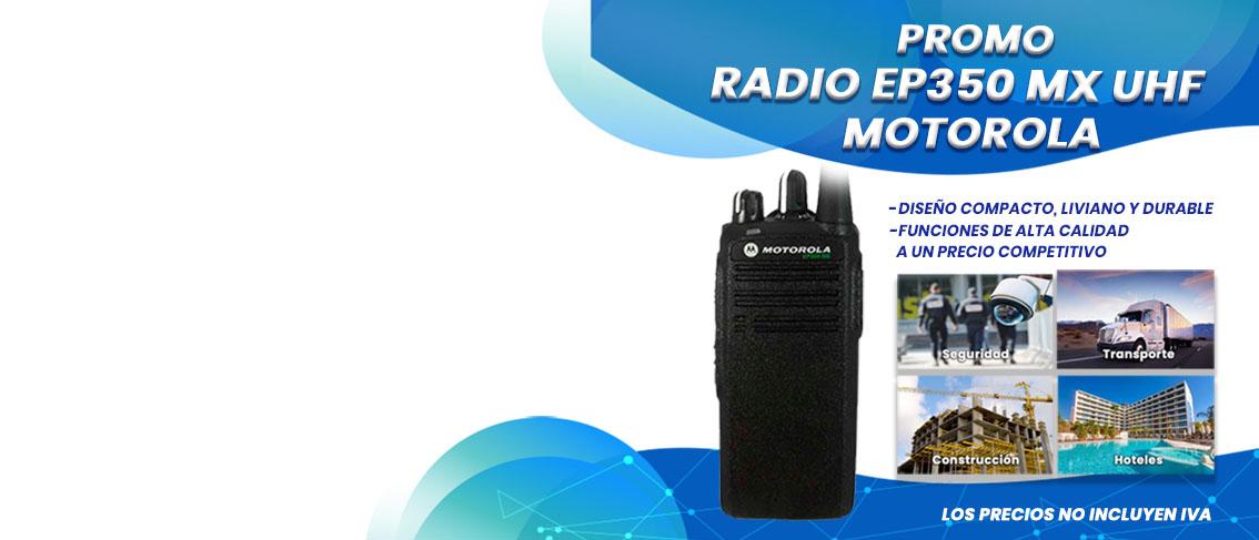 Oferta Promocion en Radios Motorola EP350 MX UHF