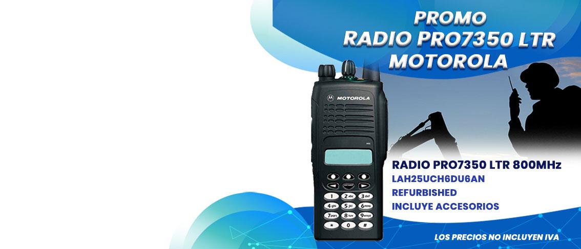 Oferta Promocion en Radios Motorola PRO7350 LTR 800Mhz LAH25UCH6DU6AN